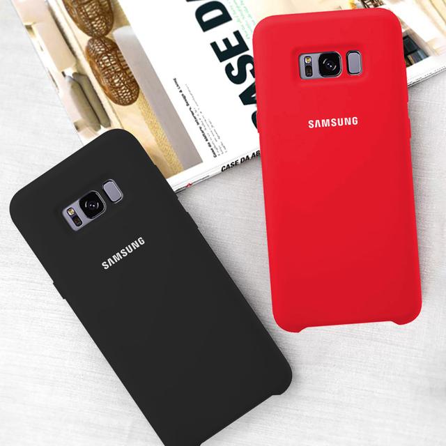 funda Original oficial de silicona suave funda trasera Samsung Galaxy