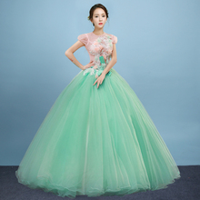 Free ship 100%real light green cosplay studio princess ball gown medieval dress/victoria belle ball