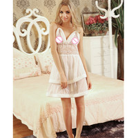 Hot Selling Sexy Sleepwear Women Erotic Lingerie Dress Sexy Lingerie Hot Women Pajamas Sexy Night ShirtsHS045