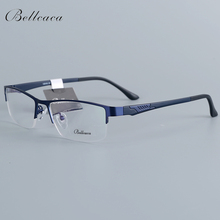 Bellcaca Spectacle Frame Men Eyeglasses Nerd Computer Optical Transparent Clear Lens Eye Glasses For Male Eyewear 12018