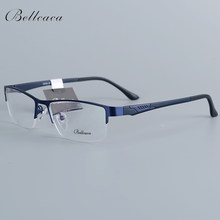 Bellcaca Spectacle Frame Men Eyeglasses Nerd Computer Optical Transparent Clear Lens Eye Glasses Frame For Male Eyewear 12018(China)