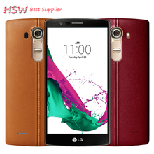 Original Unlocked LG G4 H815 EU Hexa Core 3GB RAM 32GB ROM 5.5 '' Cell Phone 16.0MP Camera 4G LTE with free Tempered Glass Film