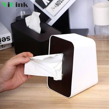Nordic Style Cover Penutup Kayu Vertikal Kotak Tisu Jaringan Yang Dapat Dilepas Kertas Dispenser Dapur Serbet Pemegang Penyimpanan Case Rumah Dekorasi Meja