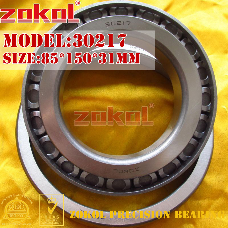 ZOKOL bearing 30217 7217E Tapered Roller Bearing  85*150*31mm na4910 heavy duty needle roller bearing entity needle bearing with inner ring 4524910 size 50 72 22