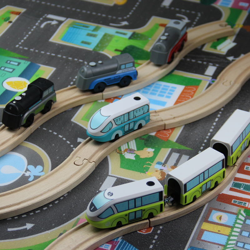 w131 Kids Electric Train Toys Magnetic Slot Diecast Electronic Toy Birthday Gifts For Kids FIT Brio track wooden track in Diecasts Toy Vehicles from Toys Hobbies