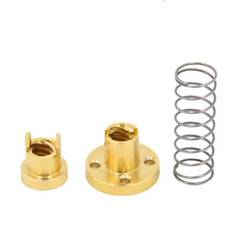 T8 eliminate clearance nut anti-backlash nut trapezoidal screw nut lead 1mm 2mm 4mm 8mm 10mm 12mm 14mm 1pcs