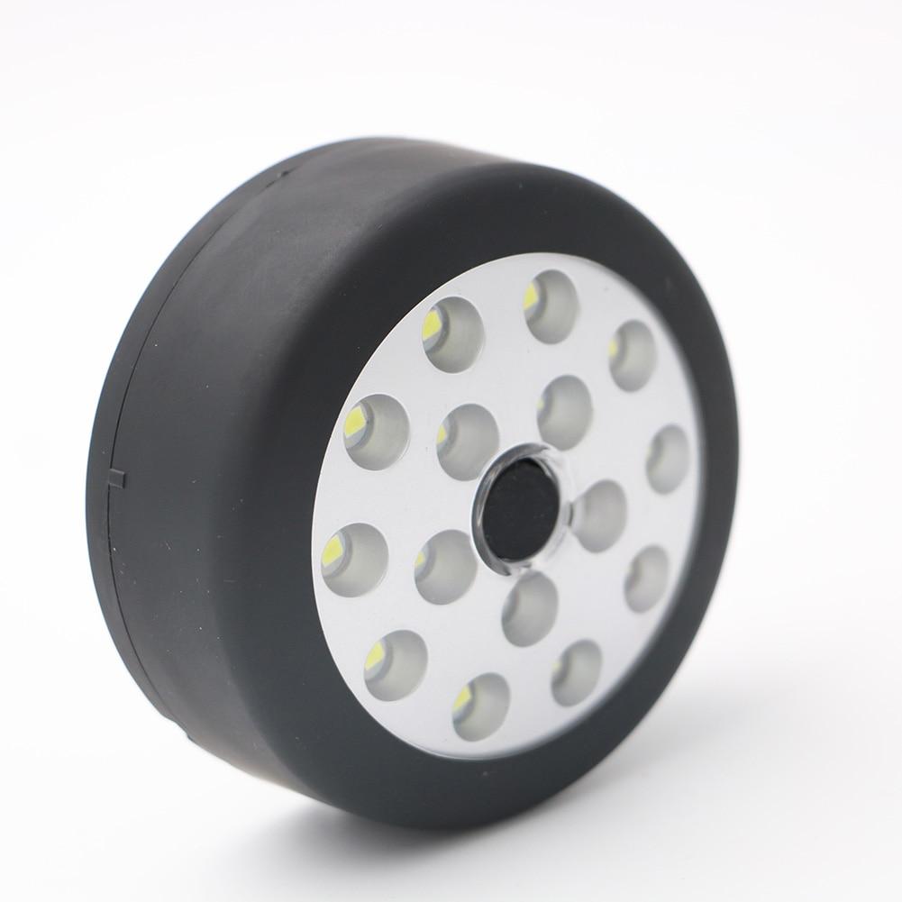 Portable COB 15 LEDs Flashlight Magnetic Working Light Folding Hook Round Lamp Torch BB55