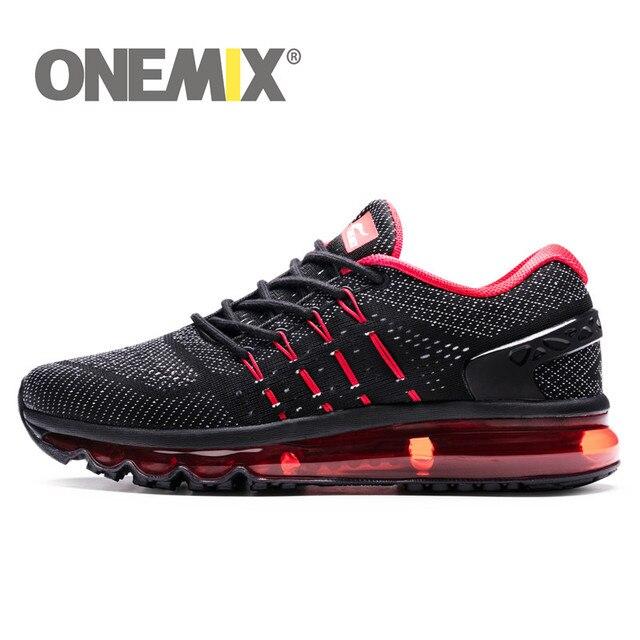 ONEMIX 2018 мужские кроссовки крутые Легкая спортивная обувь для мужчин slant tongue кроссовки для уличной бега прогулочная обувь размер 39-47