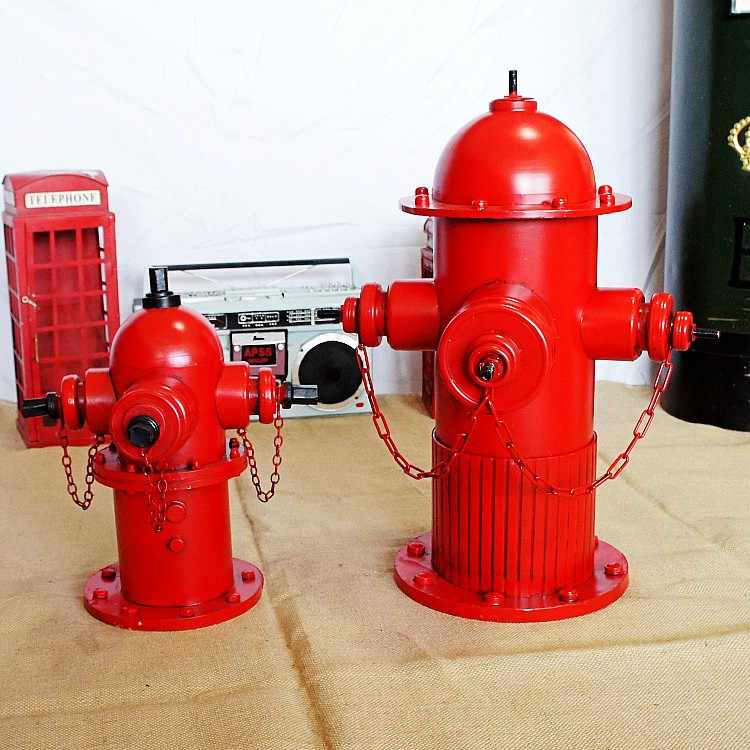 The creative fire hydrant ornaments Retro Tin model photography
