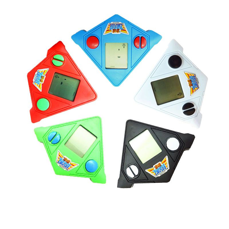 Brand New Classic Handheld Game Machine Tetris Brick Game Kids Game Machine with Game Music Playback random color
