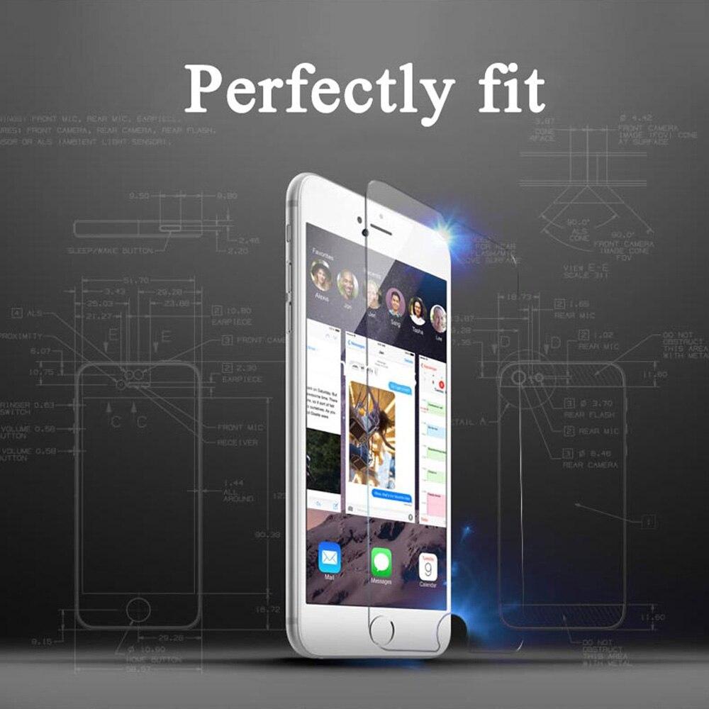 2 дана / лот 0,26 мм 9H Айфон 7 6 6S Plus 5 5S SE - Мобильді телефондарға арналған аксессуарлар мен бөлшектер - фото 5
