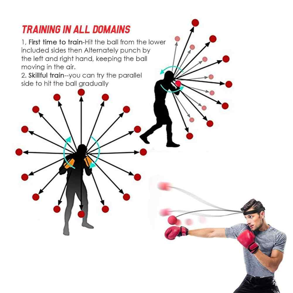 React Training Speed Fast Fight Ball Punching Speedball Kit with Headband Suitable for Adult//Kids Best Boxing Equipment INTVN Boxing Reflex Ball 3 Difficulty Level Boxing Ball with Headband