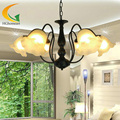 European energy-saving chandeliers bedroom lamp living room ceiling lights dining lighting antique iron chandelier E27
