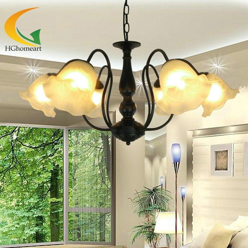 European Energy Saving Chandeliers Bedroom Lamp Living Room Ceiling Lights Dining Lighting Antique Iron Chandelier