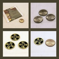 Coin Magic Double Face Super Triple Coin DVD Gimmick Magic Trick Made In China Trick Mental