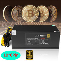 Bitcoin 1800W PLUS BTC Gold Miner Power Supply 6 Pin ETH ATX PC Computer Mining Power