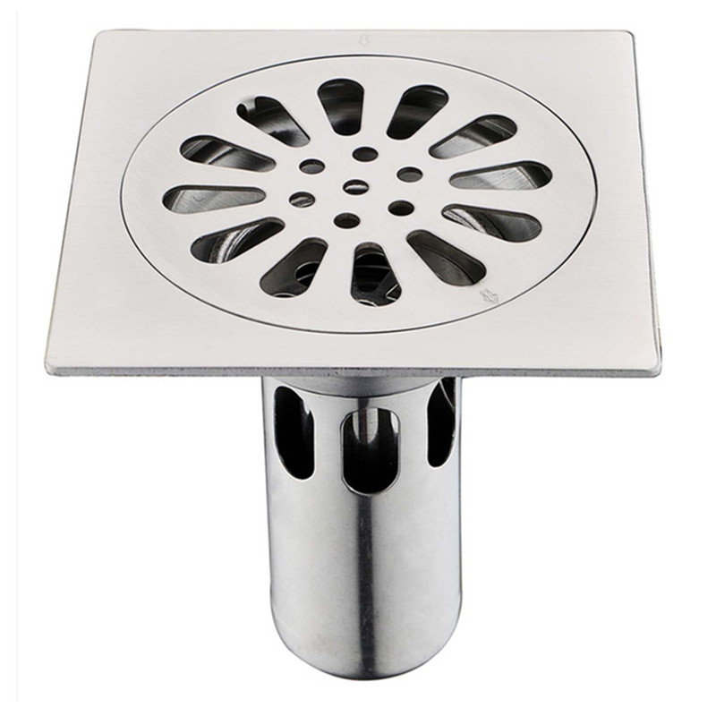 Drains Floor Drain Linear Shower Floor Drains Bathroom Shower Drain Cover Stainless Steel SUS304 Kitchen Filter Strainer