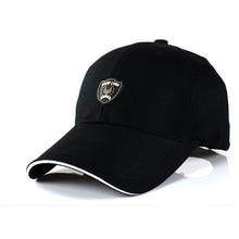 Мужчины в бейсбол вс шапки спорт марка шляпа сплошной черный белый снэпбэк хлопок и полиэстер