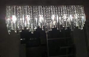 Image 4 - Modern Chinese simple fashion creative rectangular K9 crystal LED chandelier bar restaurant lighting Ceiling Lamp LED Fixture
