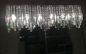 Image 4 - 現代中国シンプルなファッション創造長方形k9クリスタルledシャンデリアバーレストラン照明天井ランプledフィクスチャ