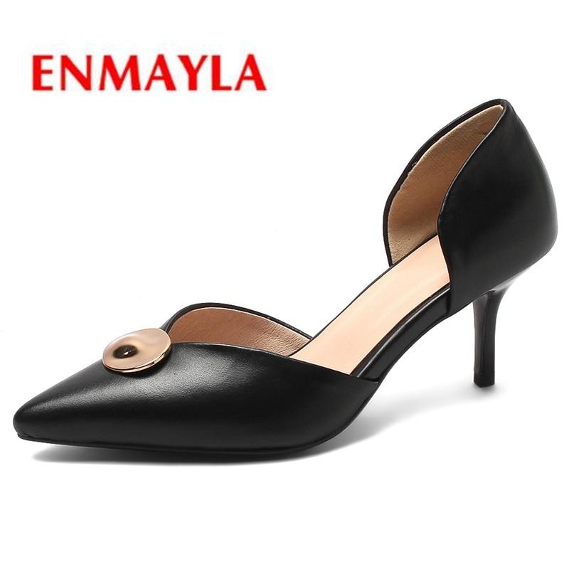 Scarpe De black A Donna Di white Vera 43 34 Nuovo Pompe In Delle Ly1118 Pelle Formato Donne Enmayla Beige Arrivo Casual Zapatos Da Mujer Punta Base W8pnv