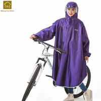 Outdoor Bicycle Raincoat With Hood Bike Raincoat Waterproof Women Cycling Rain Poncho Impermeable Cape Rain Cover QKR257