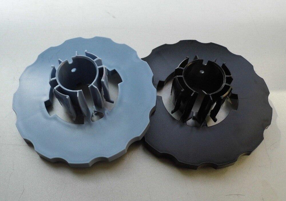 2 Pcs For HP DesignJet T610 T770 T790 T1100 T1120 T1200 Z2100 Z3100 Z5200 END cap Spindle hub (Blue+black) Q5669-40730