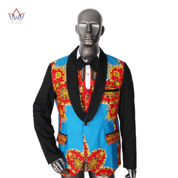 Brand Clothing African Clothes Mens Printed Blazer Men Jacket + Vest Fashion Slim Suits Dashiki Men Large Size 6XL Blazer WYN176 1