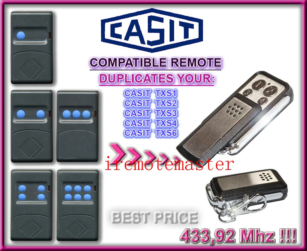 CASIT txs1,txs2,txs3,txs4,txs6 garage door remote replacement duplicator free shipping