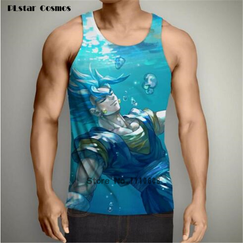 2018 summer new Fashion Men Tank Tops Classic anime Dragon Ball Z Super Saiyan Goku/Vegeta 3D printed Unisex casual vest tops