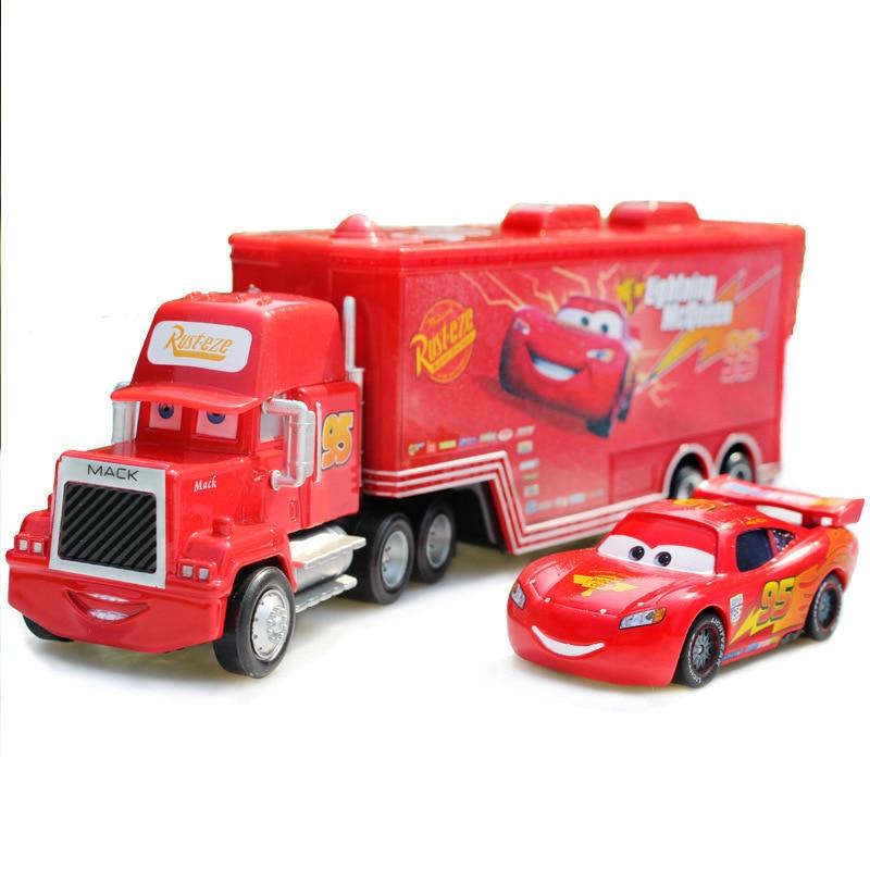 Hot Disney Pixar Cars 3 2 stuks Lightning McQueen Truck The King 95 - Auto's en voertuigen