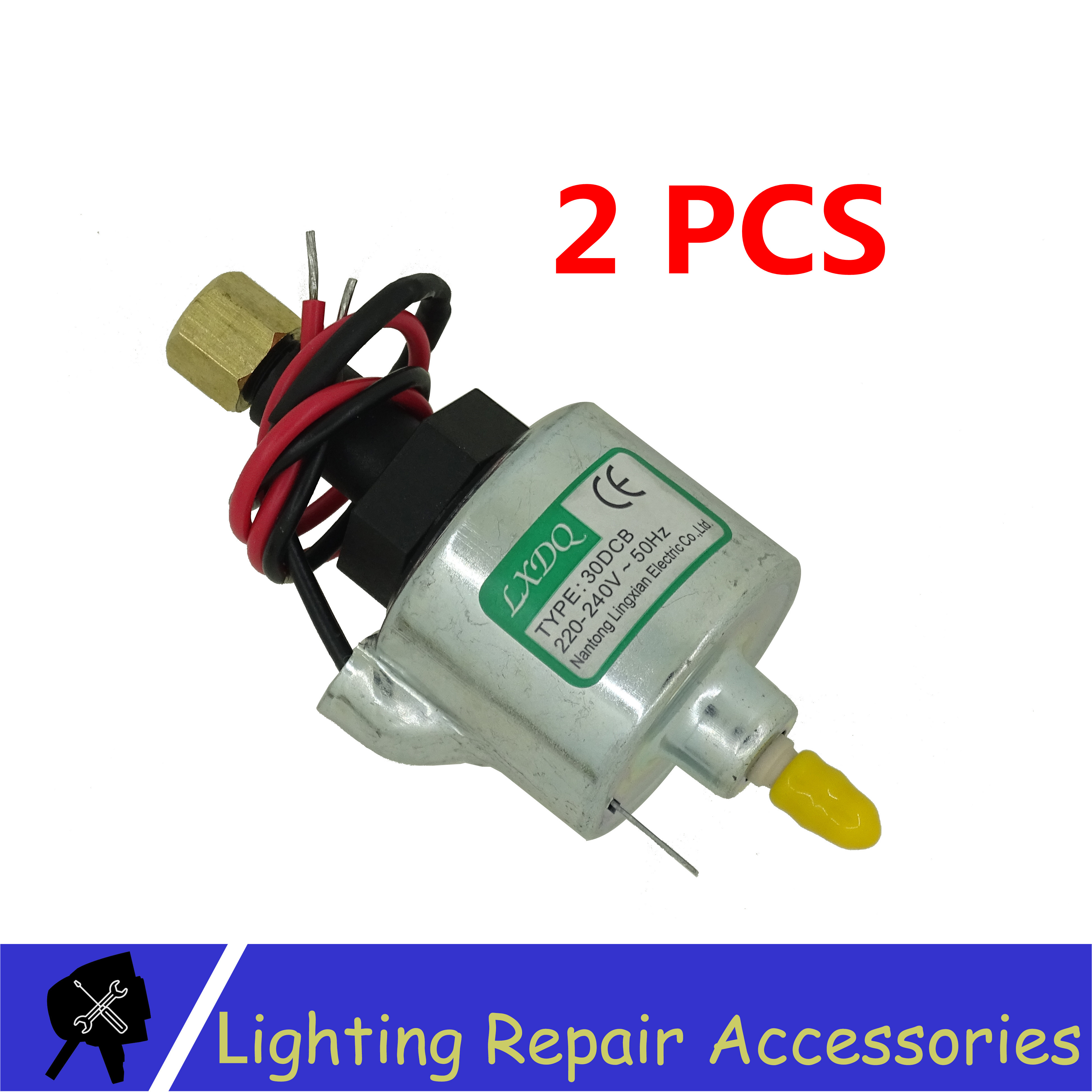 2Pcs/lots 30DCB 18W Straight Oil Pump For 400w 600w 900w Fog Machine Sucker Rod Pumping Electromagnetic Pump For Smoke MachineStage Lighting Effect   -