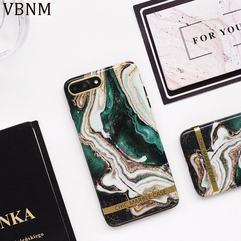 Ink Green Luxury Marble Case For iPhone X XR XS Max 7 8 Plus Soft Silicone Cases For iPhone 11 Pro Max SE 2020 Phone Cover Coque
