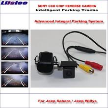 Liislee Rear Camera For Jeep Sahara / Willys 2013-2015 Intelligent Parking Tracks Reverse Dynamic Guidance Tragectory