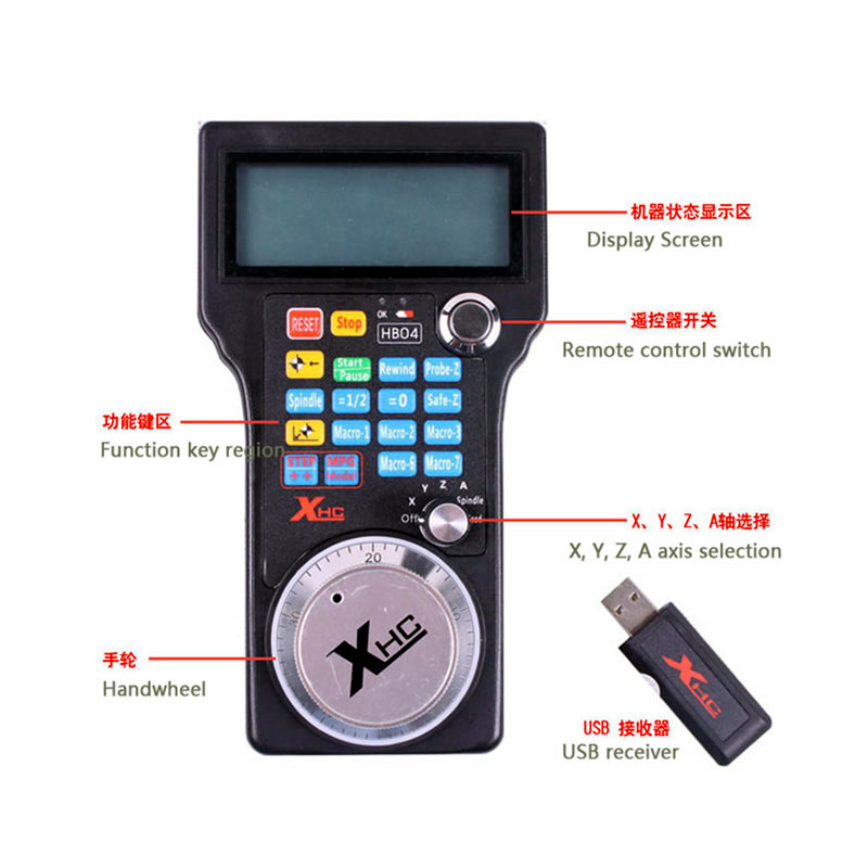 handle USB wireless control mach3 system electronic hand wheel control for cnc engraving machine