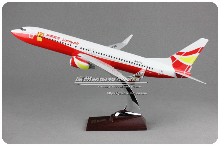 40cm Resin Lucky Air Airlines Aircraft Model Boeing 737 Airplane Model B737 Airway Airbus Model China Lucky Aviation Plane Model inflight china southern airlines b 5157 1 400 b737 800 commercial jetliners plane model hobby