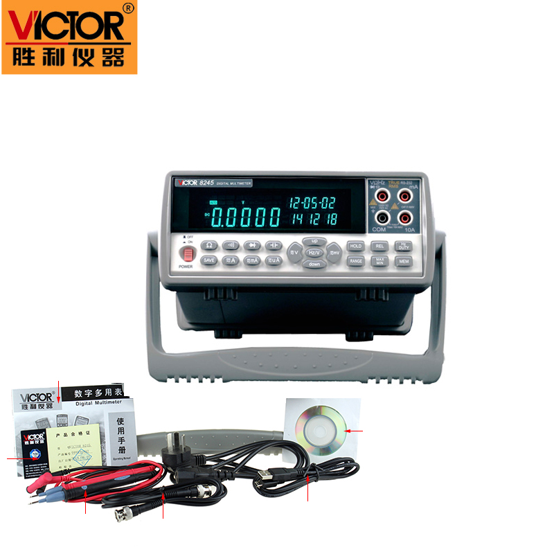 1pc VICTOR 8245 VC8245 4 1/2 Bench desktop display with high precision digital MULTIMETER Ture RMS with USB interface  цены