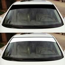 Autocollant décoratif pare-soleil pour véhicule, 140 cm x 20 cm, bannière de pare-brise en vinyle imperméable