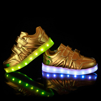 Spring And Summer Children Factory Direct Luminous Lamp Usb Magic Stick Shoes Casual Sports Shoes Breathable