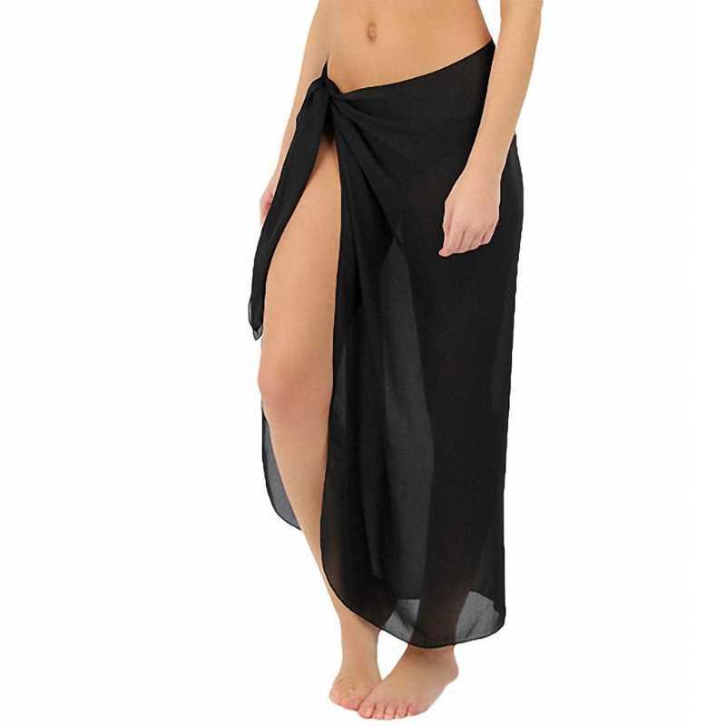 2018 Baru Wanita Baju Renang Baju renang Pakaian Renang Rok Pantai Sarong Wrap Chiffon Sampul Up