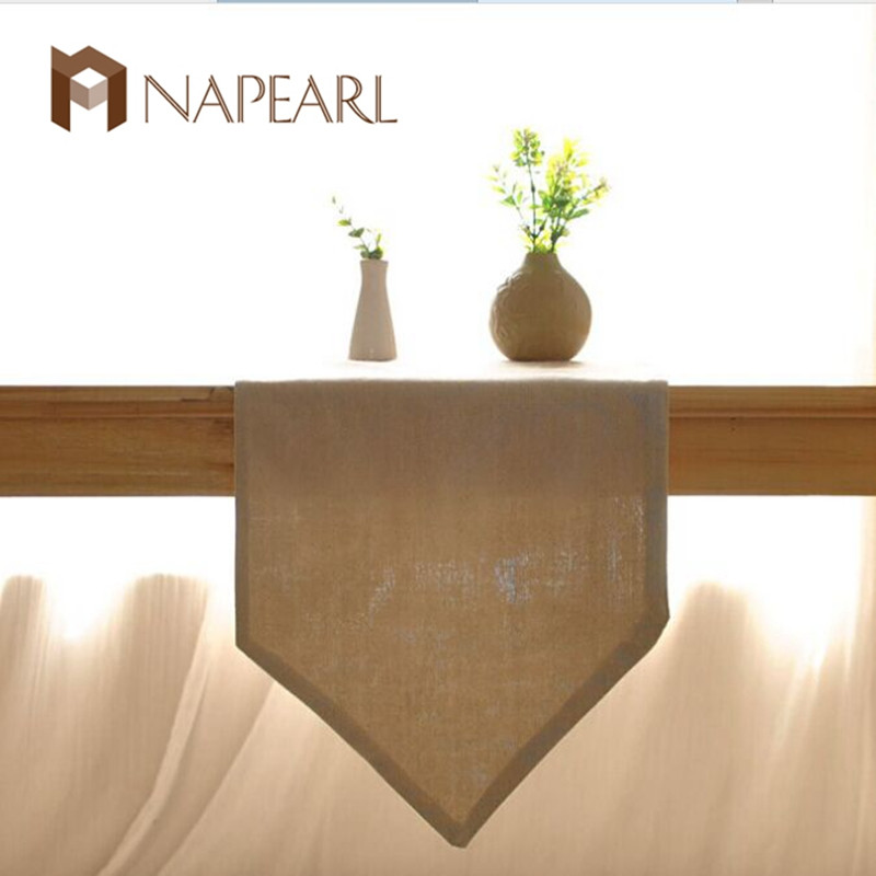 Solid Color Ichiban Japanese Dining Table Coffee Table Style Simple Plain Cloth Soft Mounted Home Linen Table Runner
