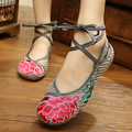 New Arrival Women's Shoes Old Peking Shoes Flat Heel with Ethnic Embroidery Soft Sole Casual Shoes Dancing Shoes Size
