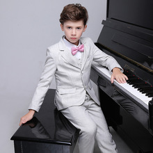 Flower Boys Birthday Wedding Suits Kids Formal Party Dress Tuxedo Piano Performance Costume Suits H460 children s suits plaid jackets boys small suits flower girl dresses boys presenters piano costumes summer