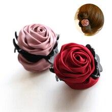 Rose Flowers Black Plastic Teeth Hair Claw Clips Exquisite Elegant Headwear For Women Girl Hair Accessories