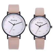 New Couples watch Women Men Leather Casual Quartz Watch Ladies Mens Sport Wrist Watches Fashion Clock