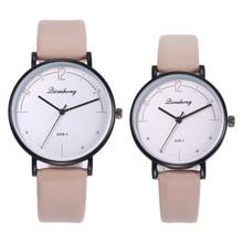 New Couples watch Women Men Leather Casual Quartz Watch Ladies Men's Sport Wrist Watches Fashion Clock все цены