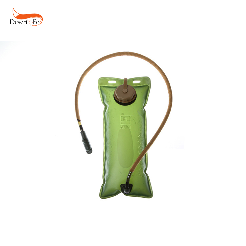 2.5L Water Bags 17.5x40.5 cm Green Environmentally EVA Bladder Hydration System Outdoor Rafting Hiking Camping Equipment