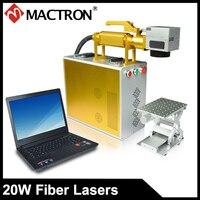 Mactron Brand 20W Fiber Portable Mini Laser Marking Machine Laser Marker For Metal Sheet,Gold,Silver,Aluminium,Phone Cover