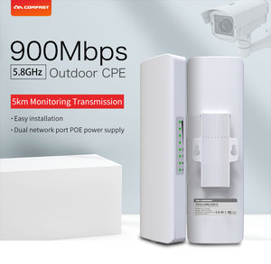 Image 3 - COMFAST 5KM 900Mbps 5.8Ghz 옥외 무선 교량 WIFI CPE 접근 지점 12dBi wi fi 안테나 Nanostation wifi 반복기 CF E313AC