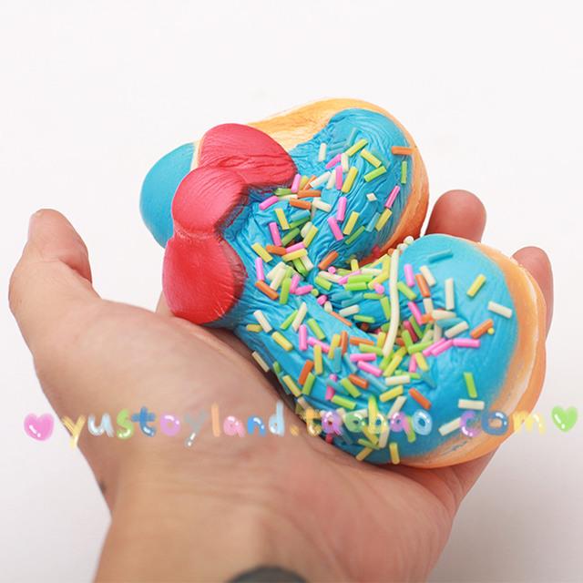 Kawaii Sprinkles Kitty Donut Squishy Slow Rising Jumbo Original Toast Pendant Straps Toy